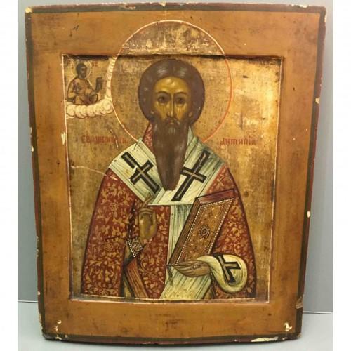 икона Святой Антипий 19 век