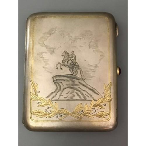 Серебряный портсигар